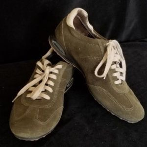 Cole Haan Green Suede Lace Up Sneakers Size 6